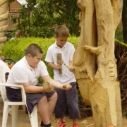Carving a Tree - Norfolk